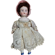Small German Bisque Head Miniature Dollhouse Size Doll