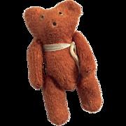 "3"" Vintage Miniature Doll or Dollhouse Teddy Bear Glass Eyes"
