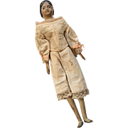 Milliners Model Antique Papier Mache Doll Original Leather Body with Wood Hands Feet
