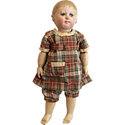 Martha Chase Antique Painted Cloth Doll Great Outfit