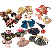 Large Group Vintage Vogue 1950s Ginyy Doll Clothes Shoes Socks Accessories