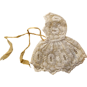 Antique Doll Cape with Hood