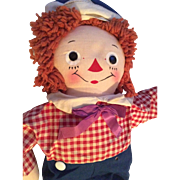 Vintage Georgene Raggedy Ann Andy Doll Clean All Original - Red Tag Sale Item