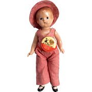 Vintage Effanbee Composition Compo Wee Patsy Doll All Original Clothes Hat Pin