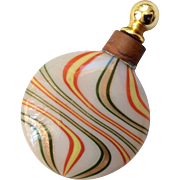 Antique Miniature Lay Down Doll Size Perfume Bottle Mercury Glass Original Stopper for Fashion Doll Dresser
