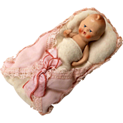 All Bisque Baby Doll in Cloth Bunting