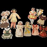 Antique Paper Doll Group plus Clothes