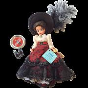 Madame Alexander Cissette Doll All Original Victorian Calendar Doll Coca-Cola 75th anniversary