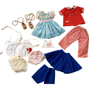 1950s Ideal Shirley Temple Doll Clothes Jewelry Shoes Tagged Dress