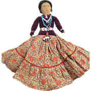 Vintage Navajo Native American Indian Cloth Doll Great Original Clothes