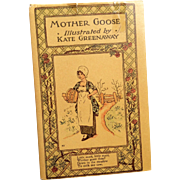Mother Goose Book Illustrated by Kate Greenaway Doll Display