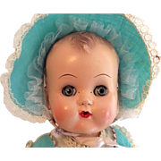 1950s Ideal Hard Plastic Head Baby Doll Original Clothes