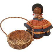 Miniature Native American Indian Basket