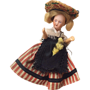 Bisque Head French Doll All Origianl Clothes good Dollhouse Miniature