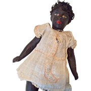 Antique German Papier Mache African-American Black Doll