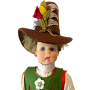All Original Vintage Lenci Boy Doll with Tag Felt Clothes Great Hat