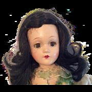 Vintage Madame Alexander Scarlet O'Hara Doll Compo Composition