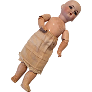 Straight Wrist Jointed Wood Compo Body German DEP Bisque Head Project Doll