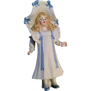 Lovely All Bisque Bonnet Head Doll Figure
