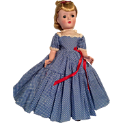 "14"" All Original 1950s Hard Plastic Madame Alexander Doll"