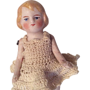 German All Bisque Doll Crochet Outfit Miniature Dollhouse Size
