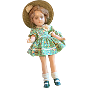 Tagged Vogue Compo Composition All Origianl Clothes Snap Shoes Straw Hat Vintage Doll