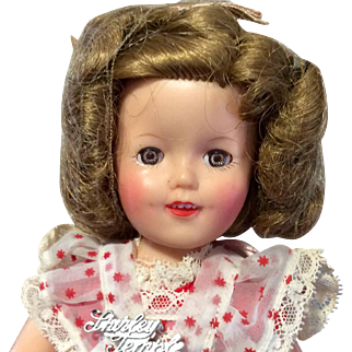 Vintage 1950s Ideal Shirley Temple Doll Tagged Script Pin