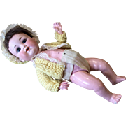 German Bisque Character Baby AM 990 Antique Doll