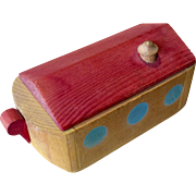 Vintage Wood Miniature Noah's Ark Doll Size Toy