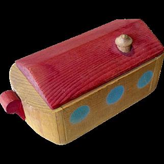 Vintage Wood Miniature Noah's Ark Doll Size Toy