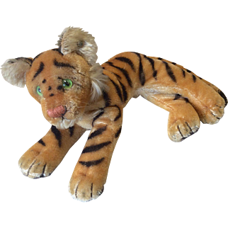 Vintage Steiff Tiger with Button in Ear