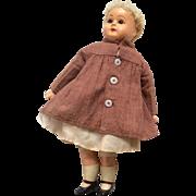 German Turned Shoulder Head Composition Glass Eyes Antique Doll