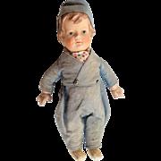 Rare Vintage Hansi German Boy Doll Original Clothes