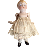 Adorable Antique German All Bisque Doll