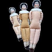3 German China Doll to Dress Dollhouse