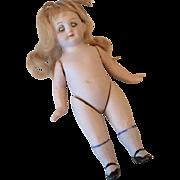 German All Bisque Sleep Eyes Antique Doll