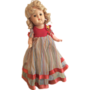 Pretty Vintage Composition Doll Great Outfit Gown Shoes