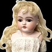 Gorgeous Kestner Turned Shoulder Head F Alphabet Antique Bisque Doll