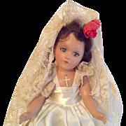 All Original Vintage Composition Doll Bride