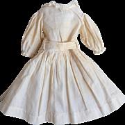 Antique Doll Dress with Belt Slip