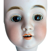 Large Antique German Bisque Doll Head Sleep Eyes Damage As Is 1906