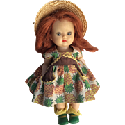 Vintage 1950s Vogue Ginny Doll Outfit on Nancy Ann Storybook Redhead Muffie