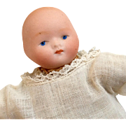 Tiny Antique German Bisque Baby Doll