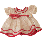 Vintage Shirley Temple Tagged Ideal Doll Dress for Composition