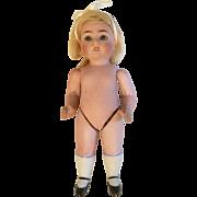 "7"" German All Bisque ABG 83 Sleep Eye Large Antique Doll"