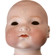 Large German Bisque Antique Baby Doll Head AM 341 Dream Baby