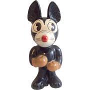 Vintage Papier Mache Character Mickey Mouse or Felix the Cat Doll