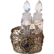 Miniature Jeweled Perfume Scent Bottle Holder for FF Doll