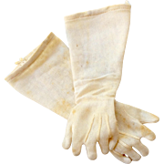 Antique Doll Gloves for Bisque Head Doll with Compo Wood Jointed Body