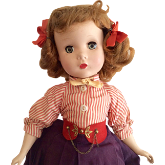 All Original 1950s Maggie Walker Doll Madame Alexander Hard Plastic Tagged